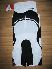 Kiwami Tri Skin Suit 2Xl Xxl Zipper Front Triathlon Trisuit Black & White Nwt