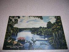 1940s SUBMARINE BOAT RAINBOW SPRINGS DENNELLON FLORIDA LINEN POSTCARD