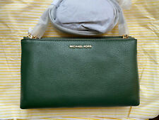BNWT Michael Kors Adele Leather Crossbody Bag, Green
