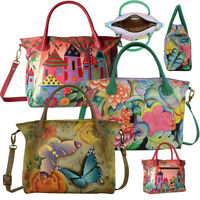 Anna by Anuschka Handpainted Leather Slouch Tote