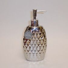 NEW STYLE SANCTUARY METALLIC SILVER 3-D CERAMIC SOAP  KITCHEN,BATHROOM DISPENSER