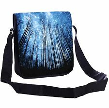 Starry Night Over The Forest Small Cross-Body Shoulder Bag Handy Size
