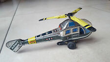 HELICOPTERE jouet mécanique friction tole - vintage cast iron toy giocattolo 50s