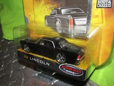 63 lincoln dub city old skool Black w/ black mags jada 1/64  8+ wave 1  ,2005