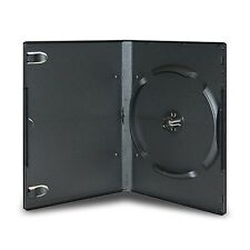 100 Pieces 14mm Standard Black Stackable CD DVD Storage Case (6 Discs)