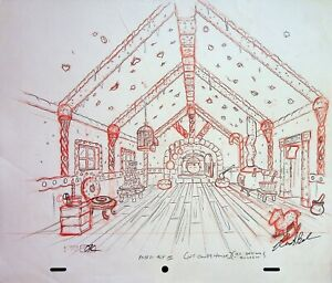 The Simpsons Production SIGNED CHRIS BOLDEN Animation Hand Drawn INT CANDY HOUSE