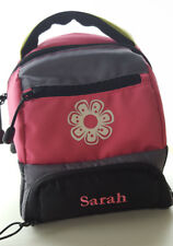 Pottery Barn Kids Insulated Lunch Bag Pink Retro Flower Monogrammed SARAH GUC