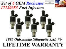 Set of 6 Genuine Rochester Fuel Injectors For 1995 Oldsmobile Silhouette 3.8L V6