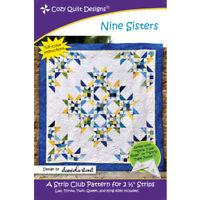 Nine Sisters quilt pattern - cozy quilt design