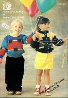Tivoli Knitting Pattern 1748 Childs Sweater & Jacket  18 to 24 inch chest