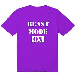 Beast Mode On Workout Fitness GYM Funny Cool Unisex Kid Youth Graphics T-Shirt