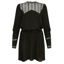 Talitha French Lace Victorian Black Dress, Small and Medium