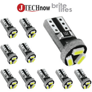 Jtech 10x T5 3 SMD LED White Instrument Panel Dash Light Bulb 74 17 37 70 2721