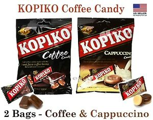 Kopiko Cappuccino & Coffee Candy - All 2 Bags Hard Coffee Candy *US SELLER*