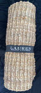 """RALPH LAUREN Jute Rug Natural Rectangle 22"""" Wide x 60"""" Long Natural NEW WITH TAG"""