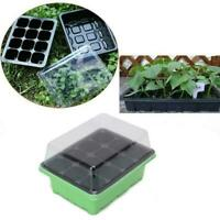 12 Cell Hole Seedling Starter Tray Nursery Seed Germination Plants U0B0
