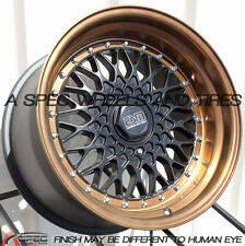 17X8.5 17X10 +15 ESM 002 4X100 BLACK BRONZE RIM FIT BMW E21 E30 2002 AGGRESSIVE
