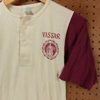 vtg usa made single stitch VASSAR COLLEGE t-shirt SMALL soft thin 70s 80s faded