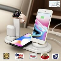Wireless Charger 3 in 1 Charging Dock for Apple Watch & Air Pods Station