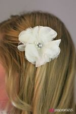 """Chantilly Lace"" White Paparazzi Hair Clip"