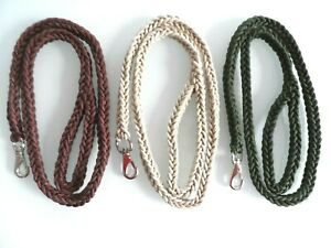 BRAIDED ROPE TYPE DOG LEADS.