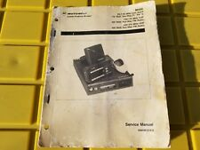 Motorola Radio Service Manual Radius M400 Mobile Radio 6880901Z56-0 Low VHF UHF