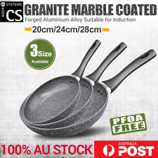 Marble Stone Ceramic Coated Nonstick Cookware Set Frypan Frying Pan Fry Pan Sets