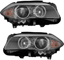 Halogen Headlights Headlight Assembly NEW Pair Set For 11-13 BMW 528 530 535 550