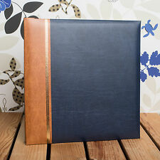 SELF ADHESIVE PHOTO ALBUM *Holds 12x10 inch Photos* Traditional Dark Blue Cover