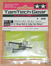 Tamiya 40532 Tamtech-Gear GT-01 Wheel Bolt & Collar Set (Silver) (GB01/GT01) NIP