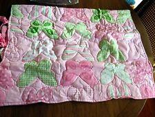 Ridgefield Home 100% Cotton Standard Pillow Sham Pink White Green Floral Nip New
