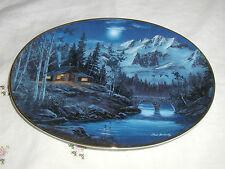 """""""Tranquility In The Twilight"""" Plate The Cabins Of Comfort River Coa"""