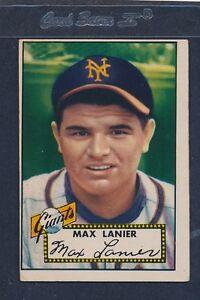 1952 Topps #101 Max Lanier Giants VG 52T101-81816-1
