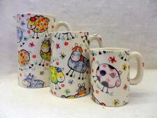Crazy Farm set of 3 jugs by Heron Cross Pottery