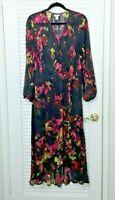Ava & Viv High Low Long Sleeve Floral Maxi Dress Plus Size 1X 14/16