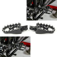 BLACK Wide Foot Peg MX Style For Harley Dyna Sportster Iron 883 Fatboy Bobber