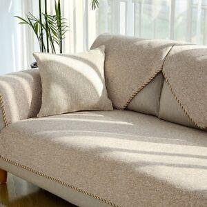 Modern Sofa Cover Linen Woven Non-slip Case Sofa Towel Couch Seater Sofa Cover