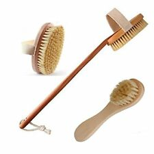 Dry Body Brush With Detachable Handle And Dry Brush For Face-Premium Dry Skin