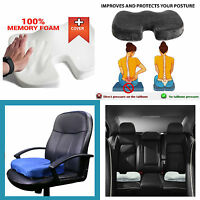 Orthopedic Memory Foam Cushion Coccyx Tailbone Comfort Car Travel Seat Chair