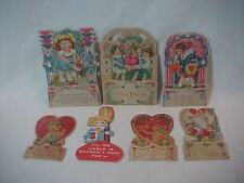 7 Valentine card  Pop Up Honeycomb some unsigned die cut USA Germany Adorable