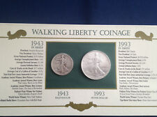 1943-1993 Walking Liberty Half Dollar American Silver Eagle Collection  E5381