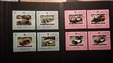 8x Blocs Sheets AJMAN Hubert Herkomer Rallye Cachet 1970 MNH** Emirates Imperf.
