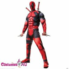 Deluxe DEADPOOL Marvel Costume Licensed Rubies Adults Muscle Fancy Dress