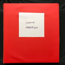 South America Countries Mint & Used Stamp Collection Stockbook - Many Oldies.