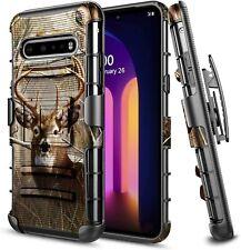For LG V60 ThinQ 5G Holster Case Armor Belt Clip Kickstand Phone Cover