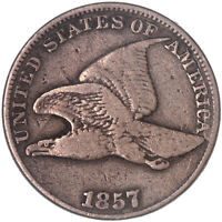 1857 Flying Eagle Cent Fine Penny FN Old Cleaning See Pics G857