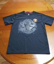 Manchester United Black  Fitted T-Shirt, Men's Medium
