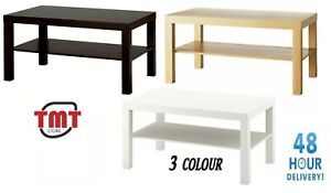 IKEA New Coffee Table TV Bank Modern Contemporary Separate shelf 3Colour 90x55cm