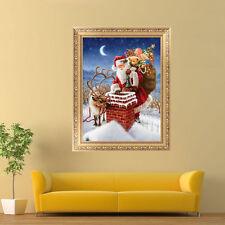 Santa Claus Christmas Embroidery 5D Diamond Painting DIY Cross Stitch Home Decor