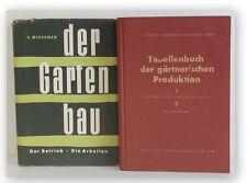 Konvolut Gartenbau 2 Bde 1955 Freizeit Illustrationen Pflanzen Natur Anbau xy
